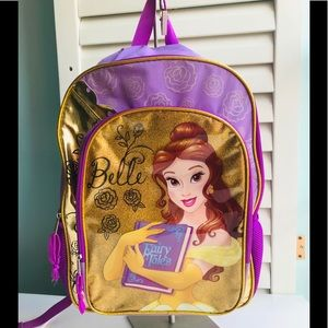 Disney Princess Belle Backpack. Big, EUC